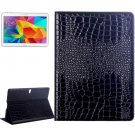 For Galaxy Tab S 10.5 Black Crocodile Texture Flip Leather Case with Holder