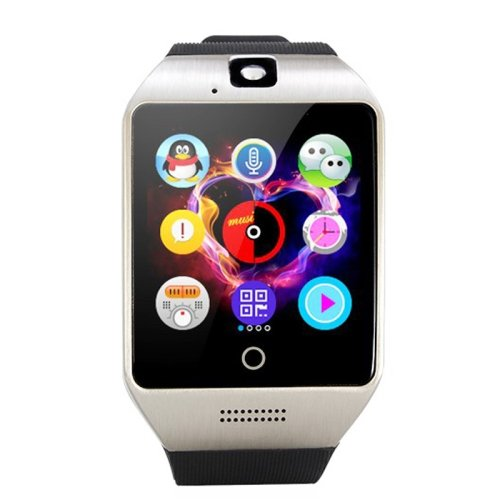 Black + Silver Q18S 1.54 inch IPS Screen MTK6260A Bluetooth 3.0 Smart Watch