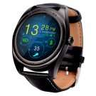 K89 Design Leather Band Bluetooth 4.0 Heart Rate Smart Watch - 3 colors
