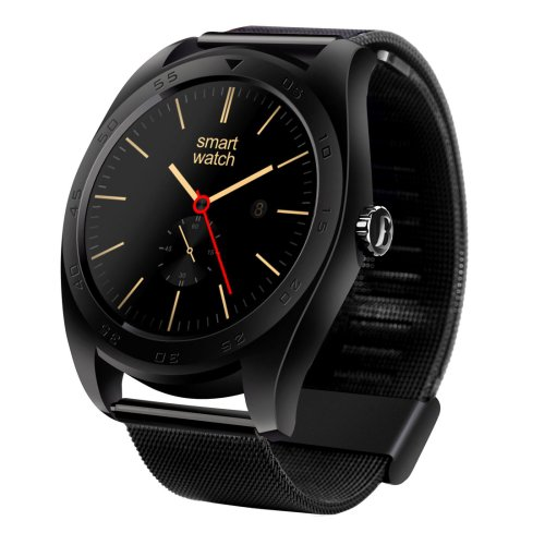 K89 Design Metal Band Bluetooth 4.0 Heart Rate Smart Watch - 3 colors