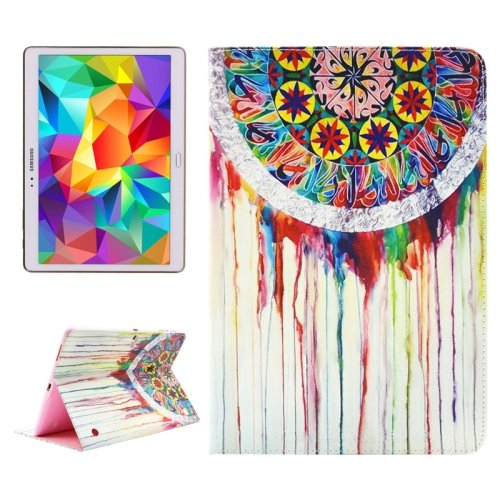 For Tab S 10.5 Windbell Pattern 2 Side Print Leather Case with Holder, Card Slots & Wallet