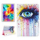 For Tab S 10.5 Eye Pattern 2 Side Print Leather Case with Holder, Card Slots & Wallet