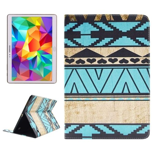For Tab S 10.5 Aztec Pattern 2 Side Print Leather Case with Holder, Card Slots & Wallet