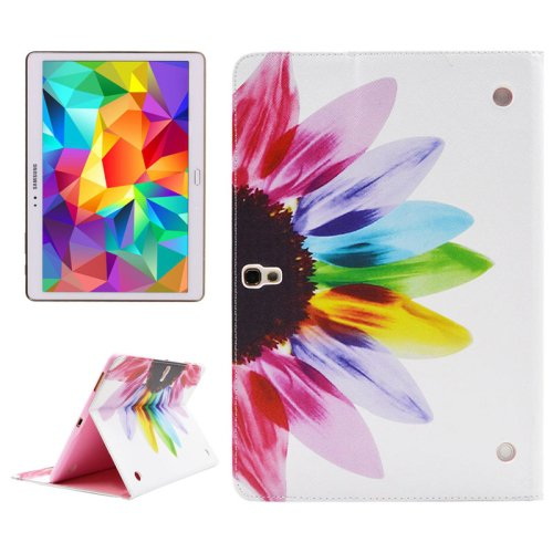 For Tab S 10.5 Flower Pattern 2 Side Print Leather Case with Holder, Card Slots & Wallet