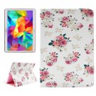 For Tab S 10.5 Floral Pattern 2 Side Print Leather Case with Holder, Card Slots & Wallet