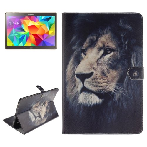 For Tab S 10.5 Lion Pattern Leather Case with Holder & Card Slots & Wallet