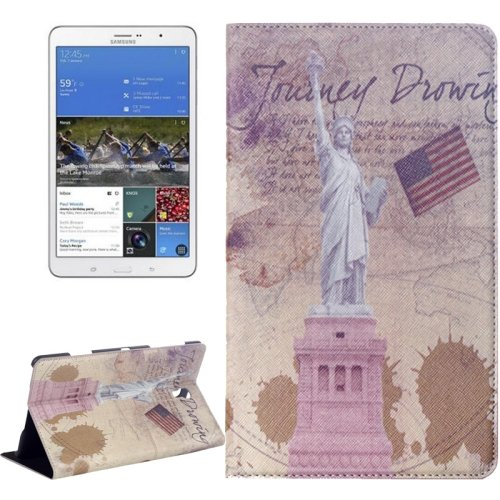For Galaxy Tab S 8.4/T700 Statue of Liberty Pattern Flip Leather Case with Holder