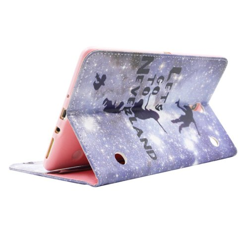 For Galaxy Tab S 8.4 Neverland Pattern Cross Leather Case with Holder, Card Slots & Wallet