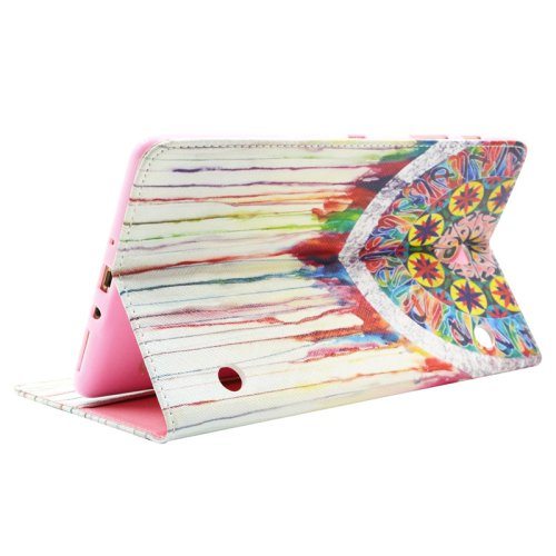 For Galaxy Tab S 8.4 Dreamcatcher Pattern Cross Leather Case with Holder, Card Slots & Wallet