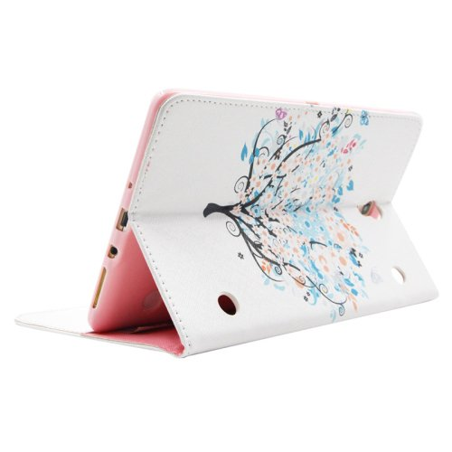 For Galaxy Tab S 8.4 Tree Pattern Cross Leather Case with Holder, Card Slots & Wallet