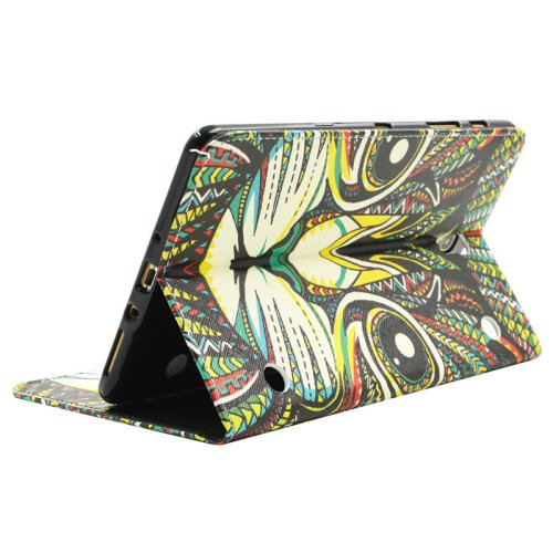 For Galaxy Tab S 8.4 Cat Pattern Cross Leather Case with Holder, Card Slots & Wallet