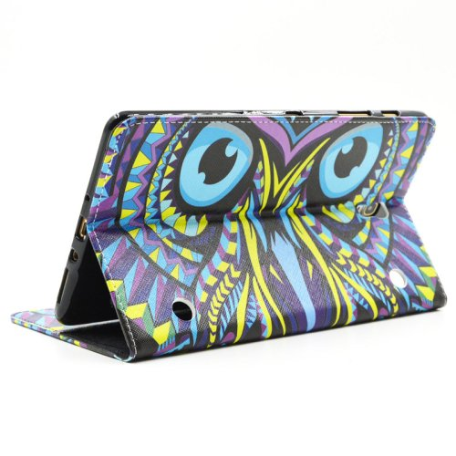 For Galaxy Tab S 8.4 Owl Pattern Cross Leather Case with Holder, Card Slots & Wallet