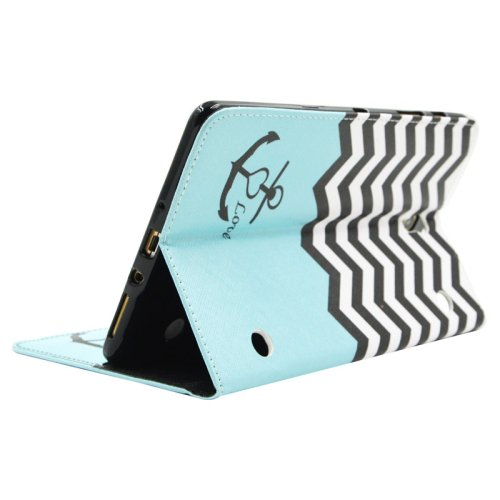 For Galaxy Tab S 8.4 Wave Pattern Cross Leather Case with Holder, Card Slots & Wallet