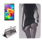For Galaxy Tab S 8.4 Sexy Girl Pattern Leather Case with Holder, Card Slots & Wallet