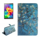 For Galaxy Tab S 8.4 Plum Pattern Leather Case with Holder, Card Slots & Wallet