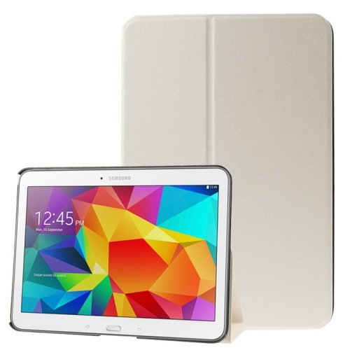 For Galaxy Tab 4 / 10.1 Frosted Texture Leather Case with Holder - # Colors