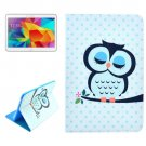 For Galaxy Tab 4 / 10.1 Owl Pattern Horizontal Flip Leather Case with Holder