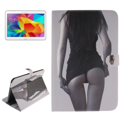 For Galaxy Tab 4 / 10.1 Sexy Girl Pattern Leather Case with Holder, Card Slots & Wallet