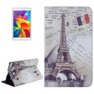 For Galaxy Tab 4 / 8.0 Eiffel Tower Pattern Leather Case with Holder