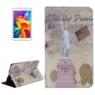 For Galaxy Tab 4 / 8.0 Statue of Liberty Pattern Leather Case with Holder