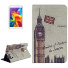 For Galaxy Tab 4 / 8.0 Big Ben Pattern Leather Case with Holder