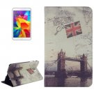 For Galaxy Tab 4 / 8.0 London Bridge Pattern Leather Case with Holder