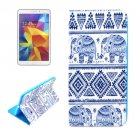 For Galaxy Tab 4 / 8.0 Elephant Pattern Flip Leather Case with Holder