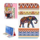 For Galaxy Tab 4 / 8.0 Elephant Pattern Leather Case with Holder, Card Slots & Wallet