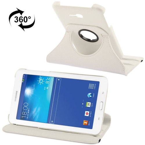 For Galaxy Tab 3 Lite 7.0 Litchi Leather Case with 2-angle Rotating Holder - # Colors