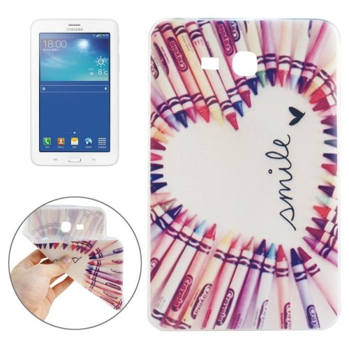 For Galaxy Tab 3 Lite 7.0 Smile Pattern TPU Protective Case