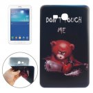 For Galaxy Tab 3 Lite 7.0 DONT TOUCH ME Pattern TPU Protective Case