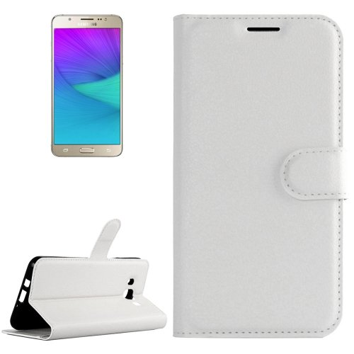 For Galaxy J5 (2016) Litchi Leather Case with Holder, Card Slots & Wallet - # Colors