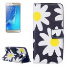 For Galaxy J5 (2016) Daisy Pattern Leather Case with Holder, Card Slots & Wallet