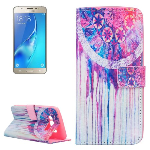 For Galaxy J5 (2016) Dreamcatcher Pattern Leather Case with Holder, Card Slots & Wallet