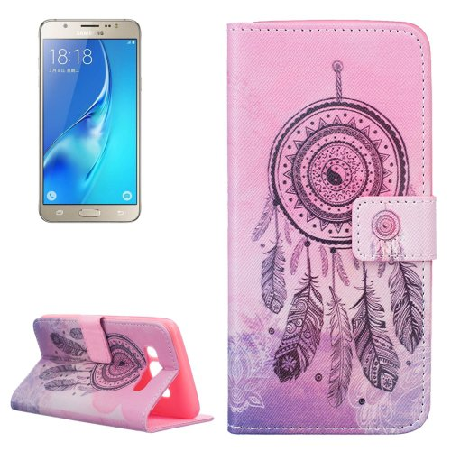 For Galaxy J5 (2016) Windbell Pattern Leather Case with Holder, Card Slots & Wallet