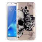 For Galaxy J5 (2016) Skull Pattern IMD Workmanship Soft TPU Protective Case