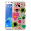 For Galaxy J5 (2016) Love Owls Pattern IMD Workmanship Soft TPU Protective Case