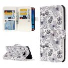 For Galaxy J5 (2016) Flowers Pattern Flip Leather Case with 9 Card Slots, Wallet & Holder