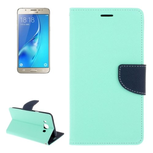 For Galaxy J5 (2016) Cross Texture Leather Case with Holder, Card Slots & Wallet - # Colors