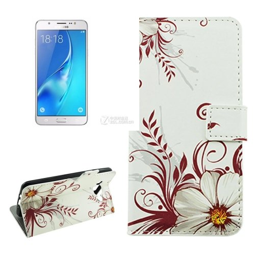 For Galaxy J5 (2016) Buds Pattern Flip Leather Case with Holder, Card Slots & Wallet