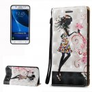 For Galaxy J5 (2016) 3D Relief Fairy Pattern Leather Case with Holder, Card Slots & Lanyard