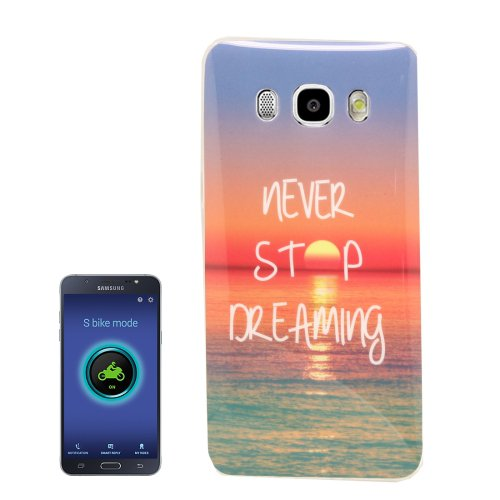 For Galaxy J5 (2016) Sunrise Pattern Soft TPU Protective Case Back Cover