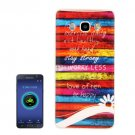 For Galaxy J5 (2016) Stripes Pattern Soft TPU Protective Case Back Cover