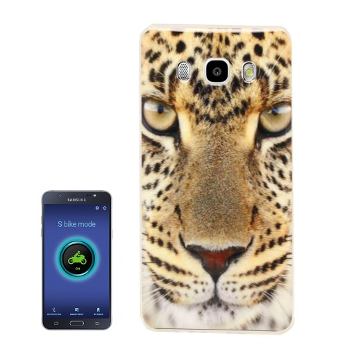 For Galaxy J5 (2016) Leopard Pattern Soft TPU Protective Case Back Cover