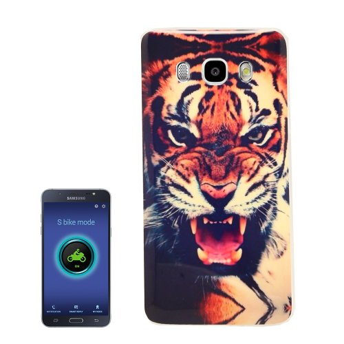 For Galaxy J5 (2016) Tiger Pattern Soft TPU Protective Case Back Cover