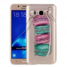 For Galaxy J7 (2016) Macarons Pattern IMD Workmanship Soft TPU Protective Case
