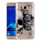 For Galaxy J7 (2016) Skull Pattern IMD Workmanship Soft TPU Protective Case