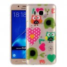 For Galaxy J7 (2016) Love Owls Pattern IMD Workmanship Soft TPU Protective Case