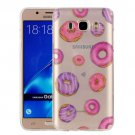 For Galaxy J7 (2016) Donuts Pattern IMD Workmanship Soft TPU Protective Case