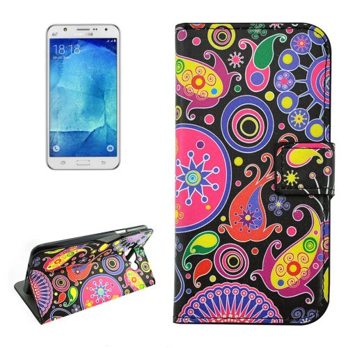 For Galaxy J7 (2016) Acaleph Pattern Flip Leather Case with Holder, Card Slots & Wallet